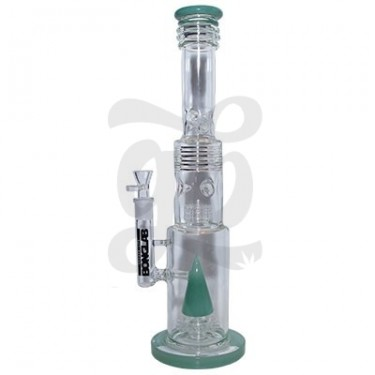 Bong cristal doble percolator 44,5cm